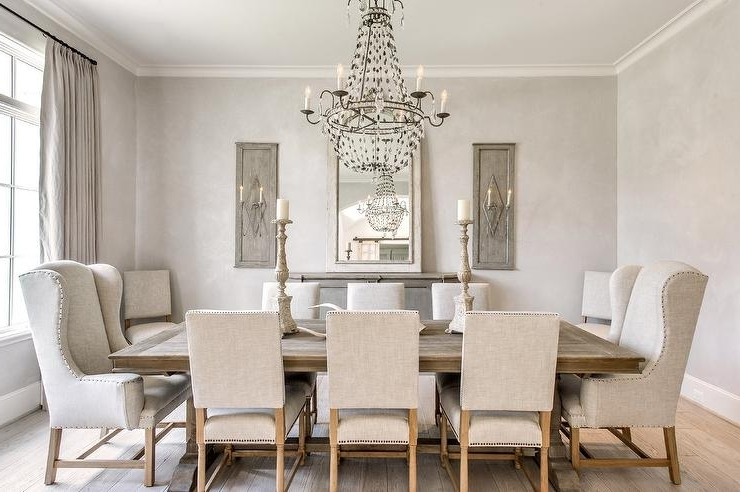 Favorite Grey French Dining Room – French – Dining Room Regarding Market Side Chairs (View 8 of 20)