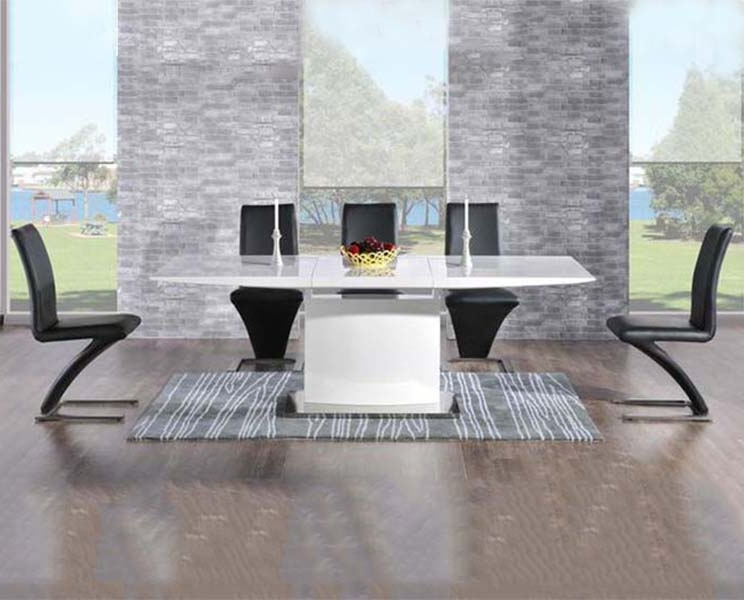 Favorite Hayden Dining Tables With Regard To Buy Mark Harris Hayden White High Gloss Dining Set – 160Cm (View 8 of 20)
