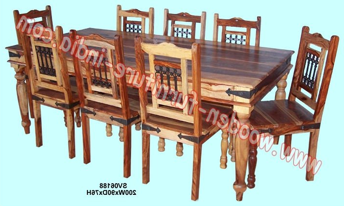 Favorite Indian Wood Dining Tables For Dining Set,indian Wooden Furniture,home Furniture,table,chair – Buy (Gallery 1 of 20)