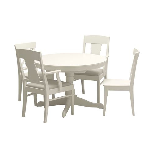 Favorite Ingatorp/ingolf Dining Table And Chairs White Nordvalla Beige 110 Pertaining To White Dining Tables And Chairs (View 6 of 20)