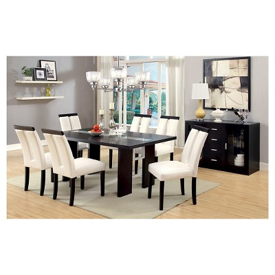 Favorite Iohomes 7pc Glass Insert Open Shelf With Led Lights Dining Table Set Throughout Dining Tables With Led Lights (View 12 of 20)