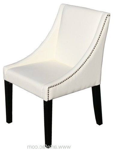 "Favorite Ivory Leather Dining Chairs Pertaining To Parsons Ivory Leather Dinning Chair With Silver Nail Head"" (View 7 of 20)"