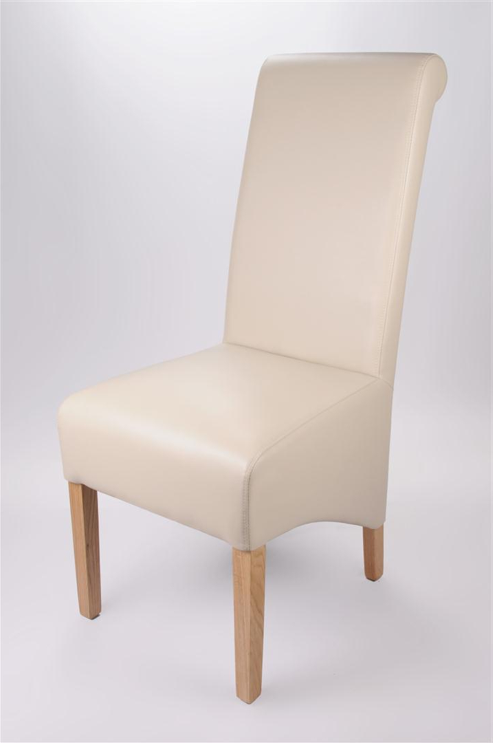 Favorite Ivory Leather Dining Chairs Regarding Dining Chairs : Rollback Leather Chair In Matt Ivoryrollback Leather (View 8 of 20)