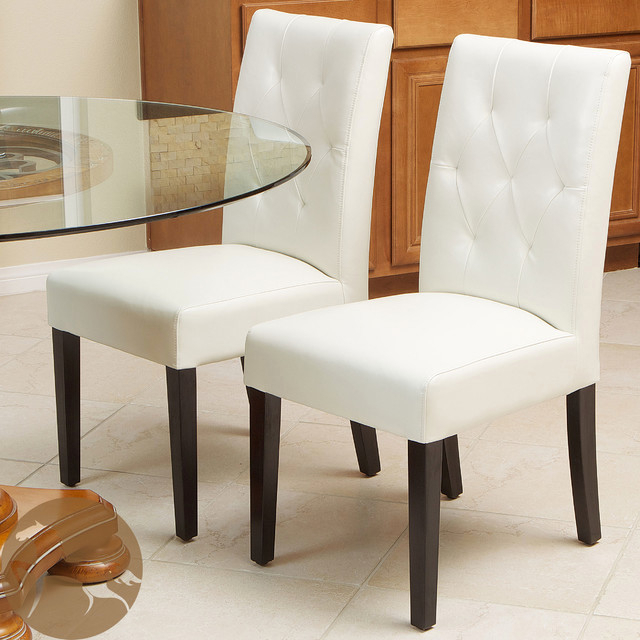 Favorite Ivory Leather Dining Chairs Throughout Ideal Christopher Knight Home Gentry Bonded Leather Ivory Dining (View 18 of 20)