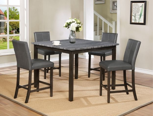 Favorite Jameson Grey 5 Piece Counter Sets Intended For Infini Furnishings Kellie 6 Piece Dining Set (View 16 of 20)