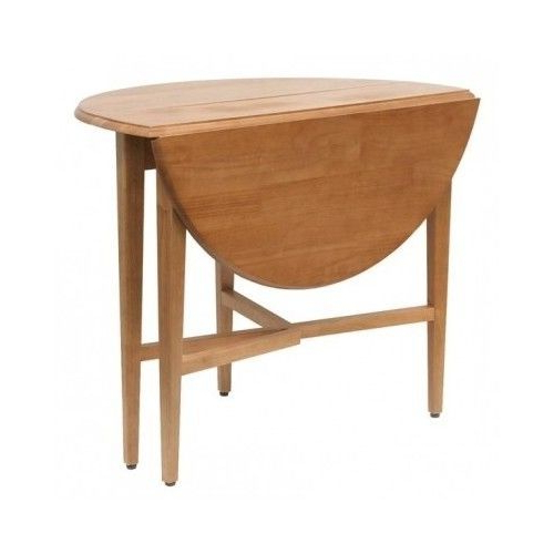 Favorite Kitchen Table Round Dining Room Drop Leaf Half Moon Wood Folding 42 Within Half Moon Dining Table Sets (View 5 of 20)