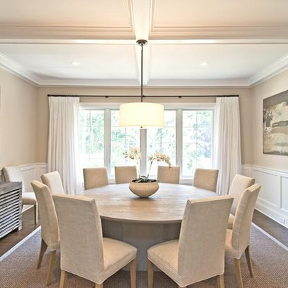 Favorite Large Circular Dining Tables Regarding Large Round Dining Table Seats 10 Oak Regarding Prepare 13 (Gallery 10 of 20)