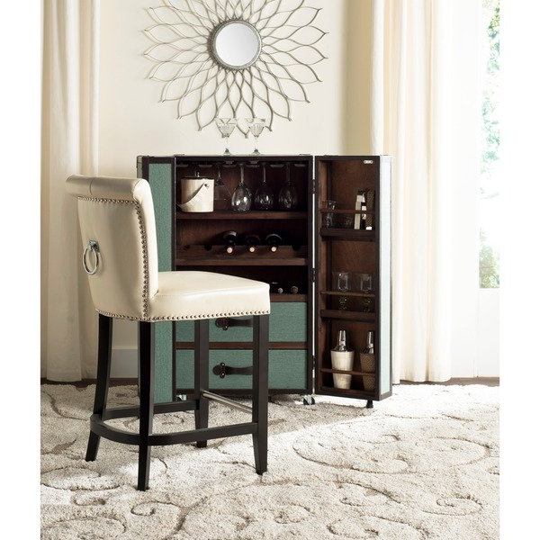Favorite Laurent 7 Piece Counter Sets With Upholstered Counterstools With Regard To Shop Safavieh Addo Flat Cream Ring Counterstool – Free Shipping (View 9 of 20)