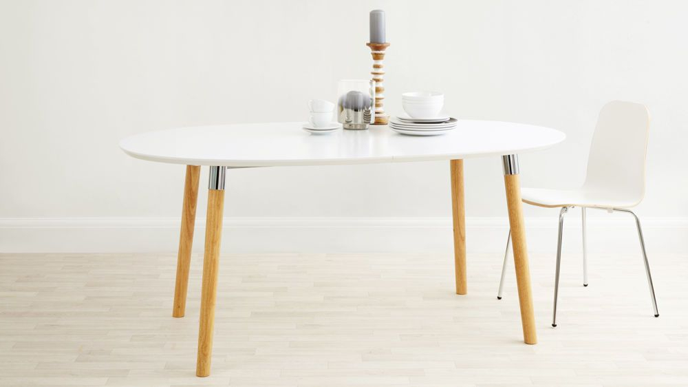Favorite Luka Matt White Extending Dining Table (View 10 of 20)