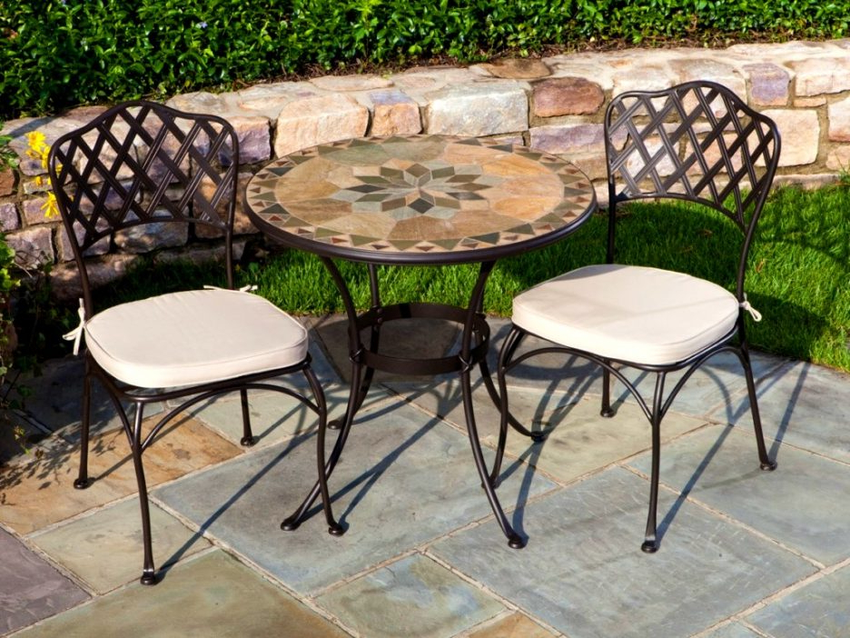 Favorite Mosaic Top Outdoor Dining Table Mosaic Chair Round Outdoor Patio Within Mosaic Dining Tables For Sale (View 5 of 20)