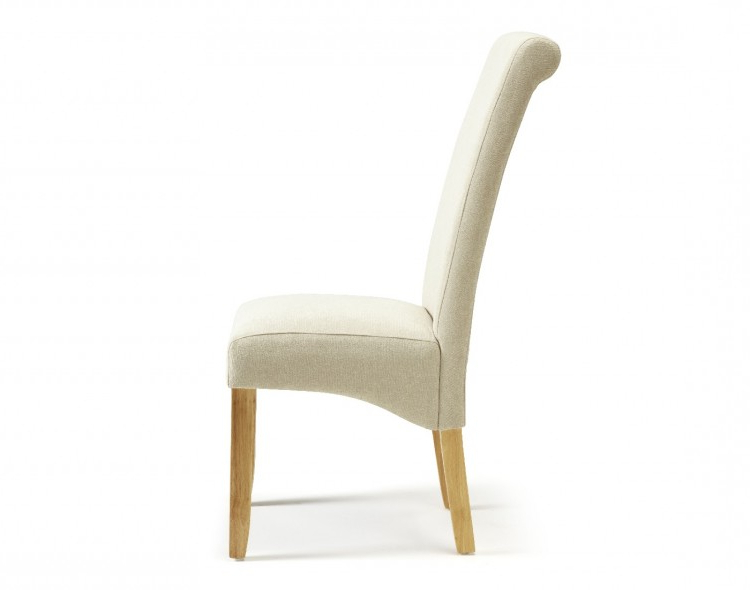 Favorite Oak Fabric Dining Chairs Within Serene Kingston Cream Fabric Dining Chairs With Oak Legs (pair) (View 15 of 20)