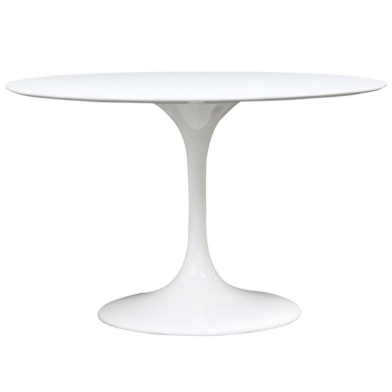 "Favorite Odyssey 47"" Round White Modern Dining Table (View 7 of 20)"