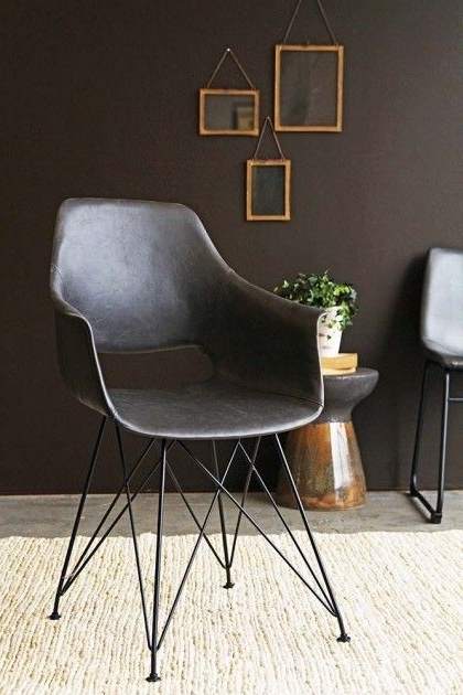 Favorite Prentice Faux Leather Dining Chair – Charcoal Grey (View 12 of 20)