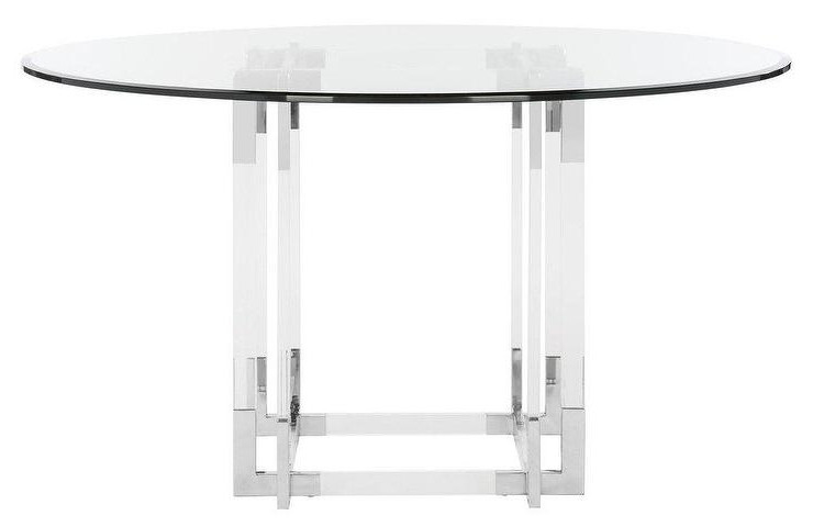 Favorite Round Acrylic Dining Tables In Koryn Round Acrylic Chrome Dining Table (View 9 of 20)