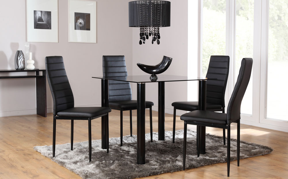 Favorite Round Black Glass Dining Tables And Chairs Throughout Dining Room Chairs For A Glass Table Glass Table Dining Table Round (View 6 of 20)