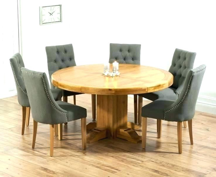Favorite Round Oak Extendable Dining Tables And Chairs Regarding Solid Oak Extending Dining Table Sets And Chairs John Lewis Grey (View 4 of 20)