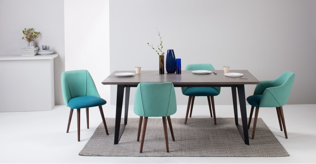 Favorite Set Of 2 Dining Chairs Blue And Emerald Green, Lule (View 7 of 20)