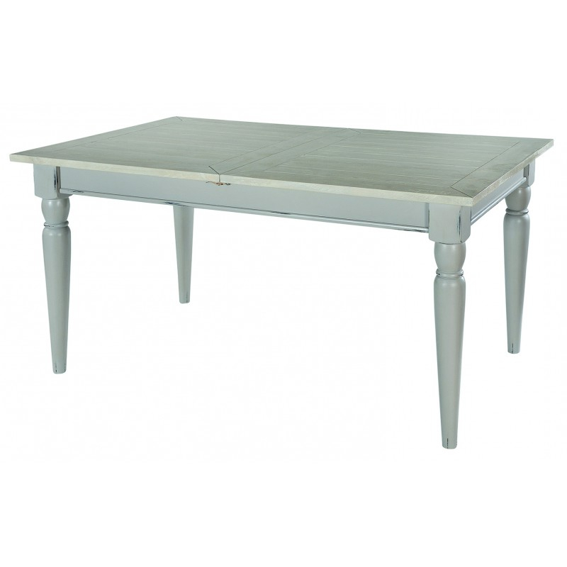Favorite Shabby Chic Grey / Ivory Extending Dining Table (View 3 of 20)