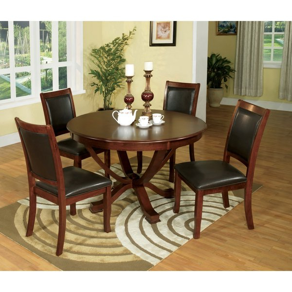 Favorite Shop Furniture Of America Kristen 5 Piece Brown Cherry Dining Set Throughout Kirsten 5 Piece Dining Sets (View 7 of 20)