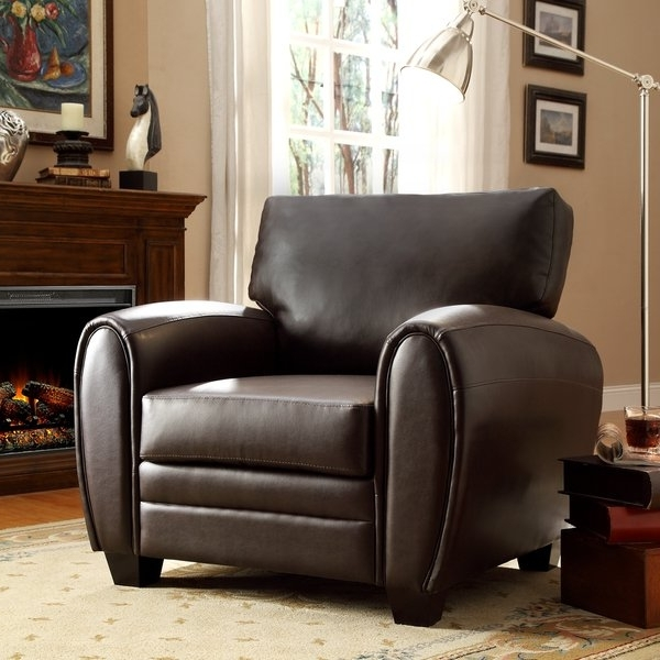 Favorite Shop Jaxon Brown Bonded Leather Chair – Free Shipping Today Throughout Jaxon Upholstered Side Chairs (View 6 of 20)
