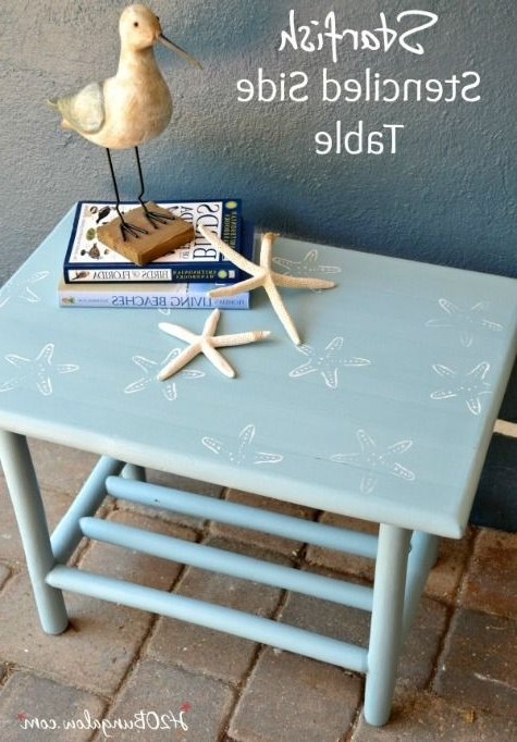 Favorite Stencil Furniture Makeovers With A Coastal, Nautical & Ocean Theme In Nautical Silver Side Chairs (View 6 of 20)