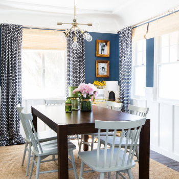 Favorite Sylvia's Makeover: Dining Room – Emily Henderson Throughout Helms 5 Piece Round Dining Sets With Side Chairs (View 16 of 20)