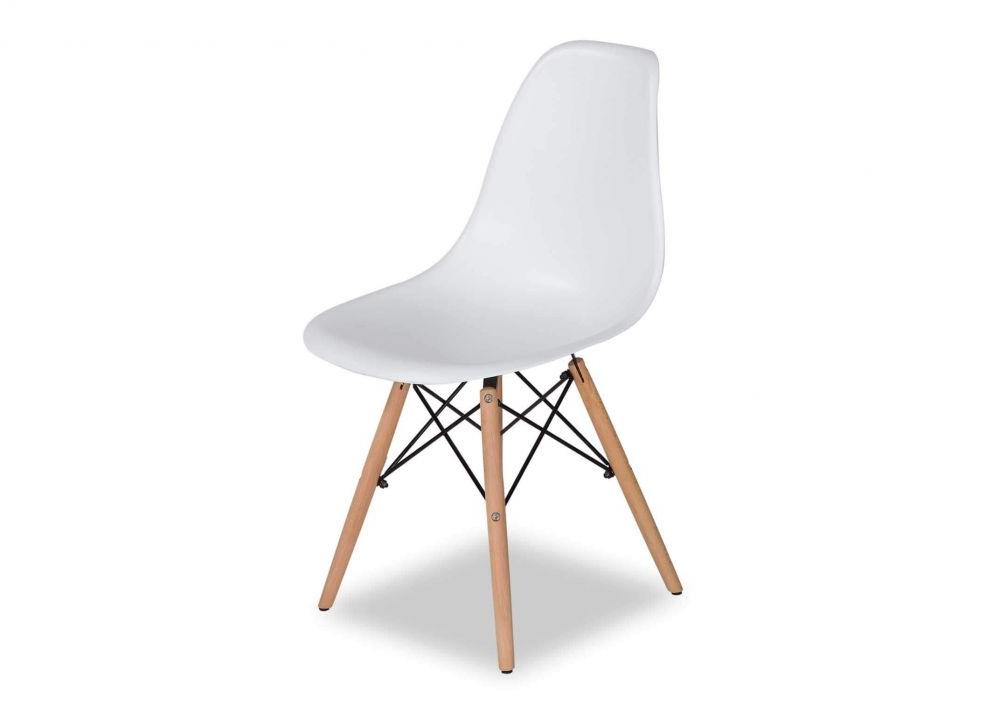 Favorite White Dining Chairs Regarding Modern White Dining Shell Chair – Kuga – Ez Living Furniture (View 2 of 20)