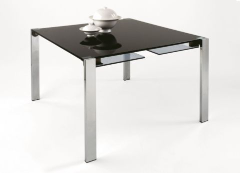 Favorite White Square Extending Dining Tables Regarding Tonelli Livingstone Square Glass Dining Table (View 6 of 20)