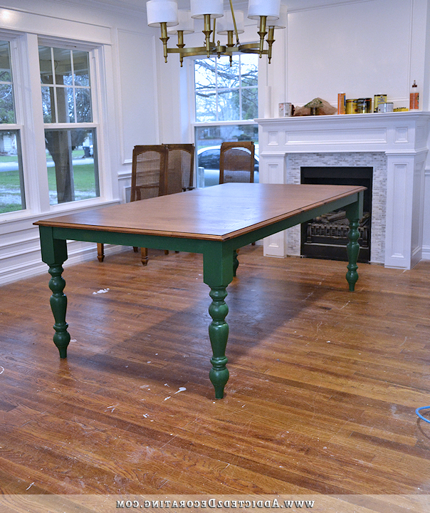 Final Dining Table Decision (plus, The Worst Product I've Ever Used) With Well Known Green Dining Tables (View 3 of 20)