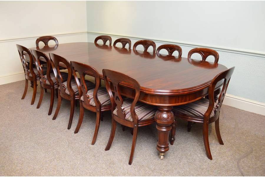 Fine Quality Victorian Mahogany Extending Dining Table (View 4 of 20)