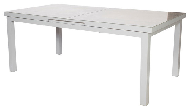 Finlay & Smith Cosmo Extension Table – Contemporary – Outdoor Dining In Well Known Jaxon Grey Rectangle Extension Dining Tables (View 11 of 20)