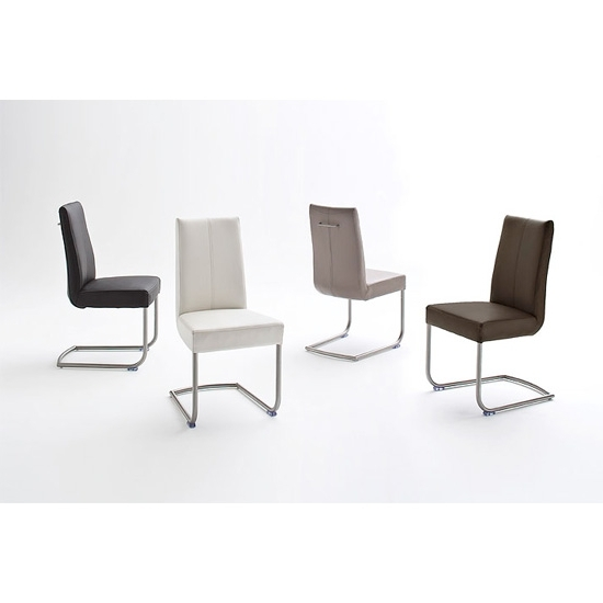Flair Pu Leather Dining Chair With Chrome Legs 19967 In Recent Chrome Leather Dining Chairs (View 11 of 20)