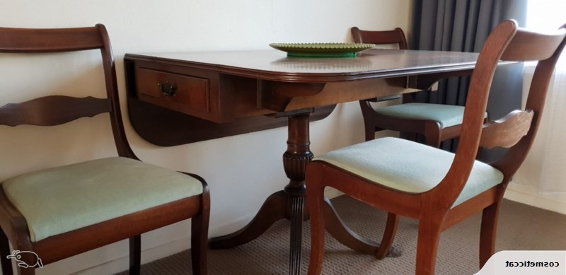 Flame Mahogany Hall Table Or As Dining Table With 4 Chairs (View 4 of 20)