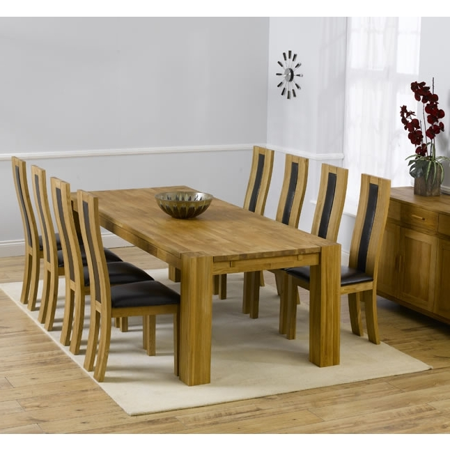 Florence Chunky Solid Oak Cm Oak Dining Table 6 Chairs Fresh In Favorite Chunky Solid Oak Dining Tables And 6 Chairs (View 9 of 20)