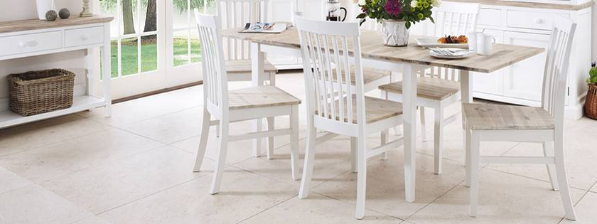 Florence Dining Tables With Most Current Statement Furniture – Florence White Matt Painted & Washed Acacia (View 10 of 20)
