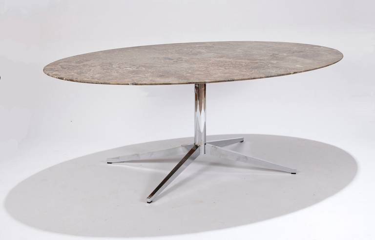 Florence Knoll Marble Top Oval Dining Table At 1stdibs In 2017 Oval Dining Tables For Sale (View 6 of 20)