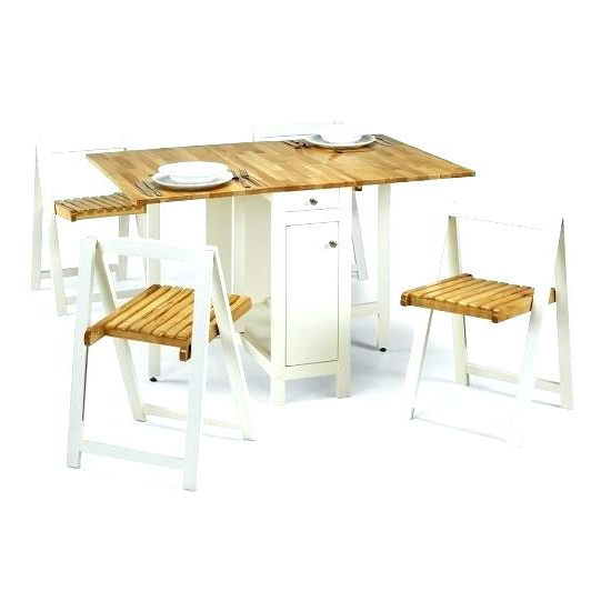 Fold Away Table And Chairs Folding Fold Away Table Set – Dailylive With Best And Newest Folding Dining Table And Chairs Sets (View 3 of 20)