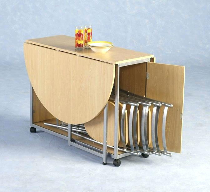 Foldaway Dining Tables With Regard To Fashionable Hide Away Dining Table 5 Of Mid Century Modern Drop Leaf Gate Legs (View 13 of 20)