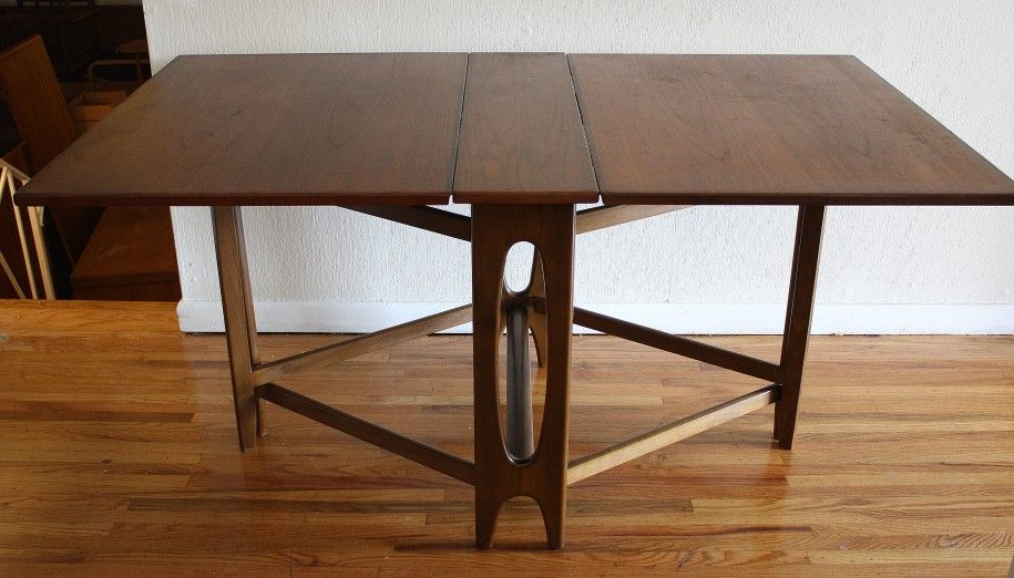 Folding Dining Table For Your Small Dining Room : Wooden Floor White Inside Latest Wood Folding Dining Tables (View 4 of 20)