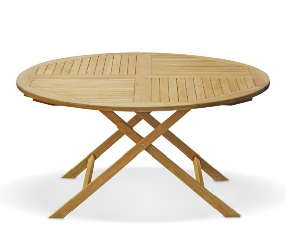 Folding Outdoor Dining Tables In Famous Suffolk 5ft Round Folding Outdoor Dining Table – (View 11 of 20)