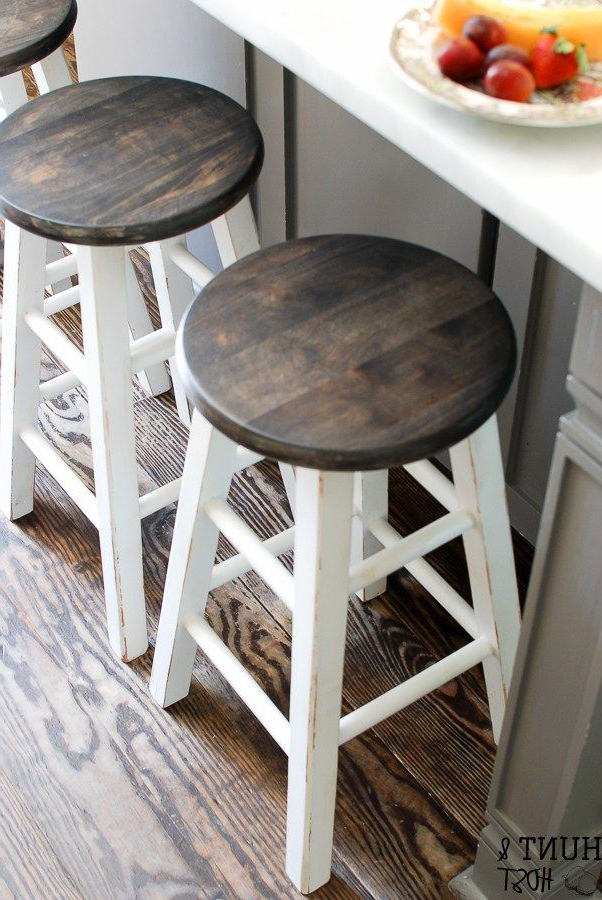 For The With Regard To Washed Old Oak & Waxed Black Legs Bar Tables (View 7 of 20)