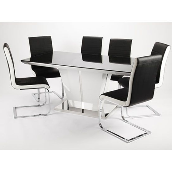 For With Latest Black Gloss Dining Tables And Chairs (View 3 of 20)
