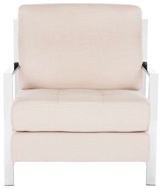 Fox6279A Accent Chairs – Furnituresafavieh Inside Fashionable Walden Upholstered Side Chairs (View 5 of 20)