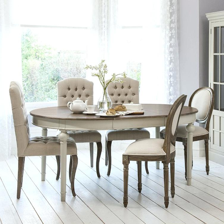 French Chic Dining Tables Pertaining To Fashionable Chic Dining Table French Tables Ideas Shabby Chairs And Bench (View 4 of 20)