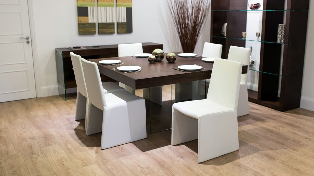 Funky Glass Legs Regarding Newest Black 8 Seater Dining Tables (View 9 of 20)