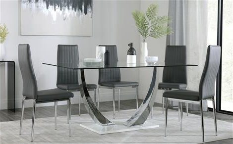 Furniture Choice Regarding Newest Chrome Glass Dining Tables (View 19 of 20)