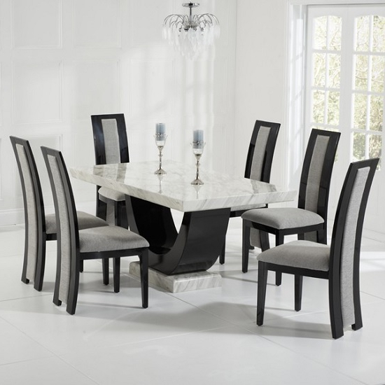 Furniture In Fashion Pertaining To Marble Effect Dining Tables And Chairs (View 10 of 20)