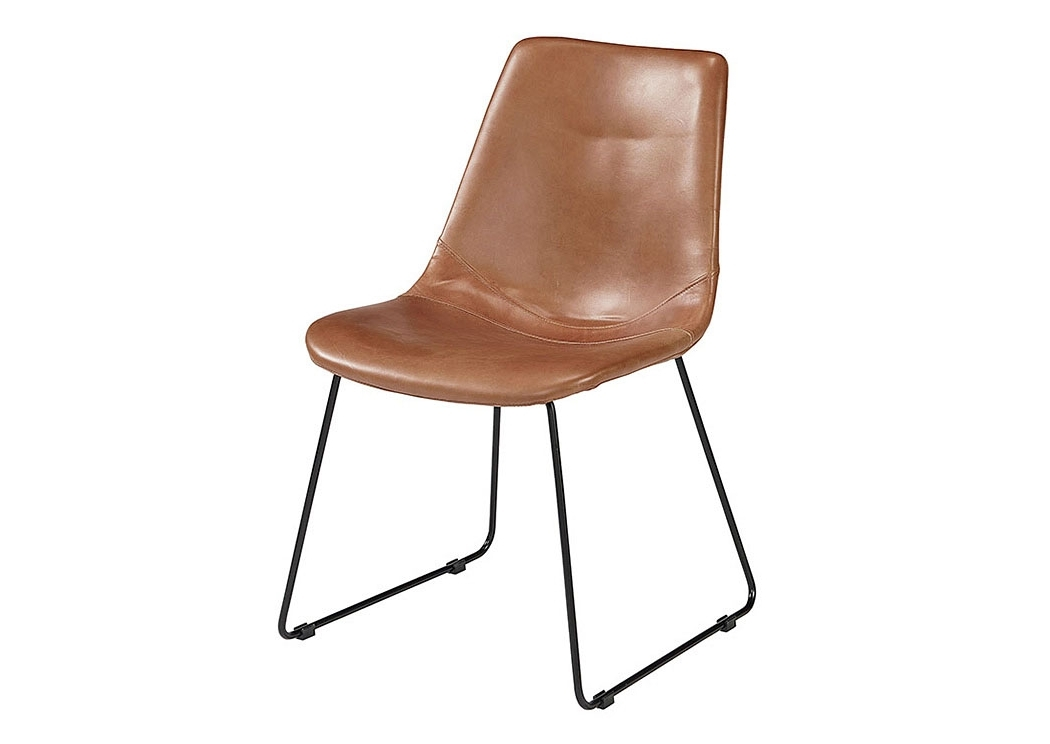 Furniture & More Galleries Molded Saddle Nut Shell Chair (set Of 2) Pertaining To Newest Magnolia Home Reed Arm Chairs (View 2 of 20)