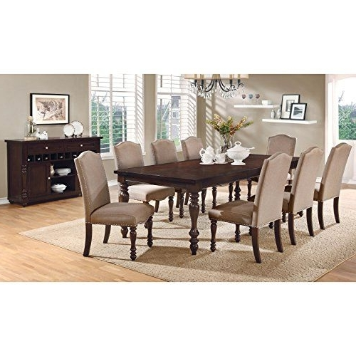 Furniture Of America Edella Classic 9Piece Antique Cherry Dining Set With Most Current Chapleau Ii 9 Piece Extension Dining Tables With Side Chairs (View 11 of 20)