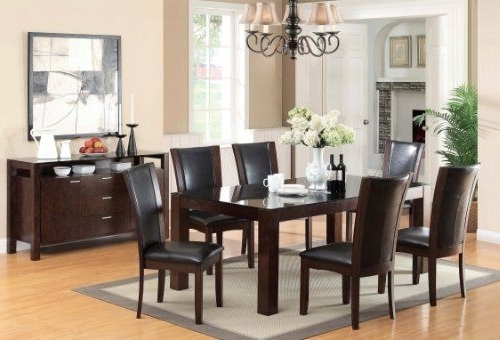 Furniture Of America Renolds 7 Piece Dining Table Set With 10Mm Inside Favorite Candice Ii 7 Piece Extension Rectangular Dining Sets With Uph Side Chairs (View 13 of 20)